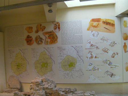signage explaining the ancient site