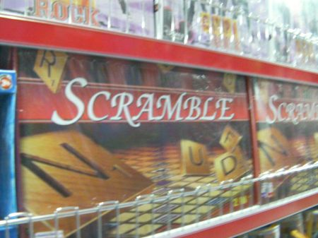 word board game named Scramble