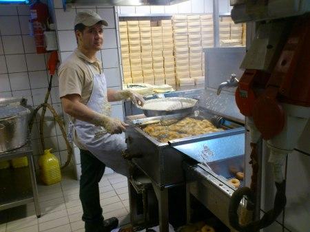 man making donuts