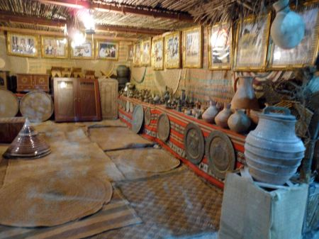 pottery, platters, coffee pots and other traditional items
