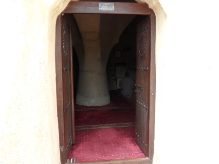 view into the mosque through the door