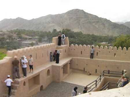 inside of the fort from the tower