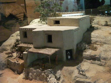 diorama of an ancient house