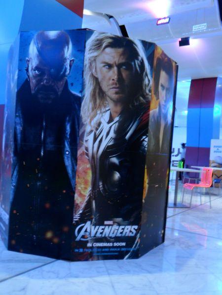 Avengers cardboard advert