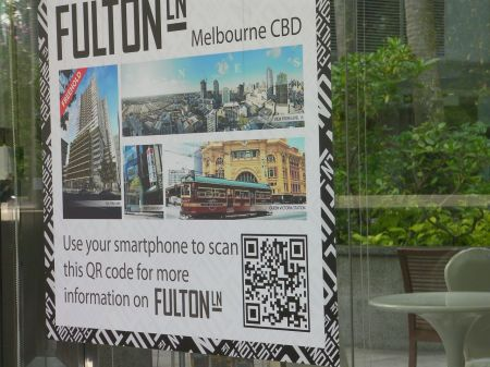 qr code in a real estate advertisement