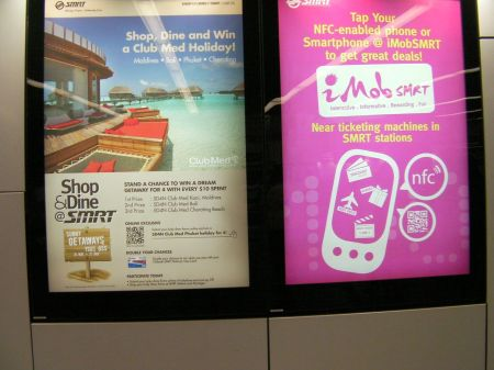 qr codes on two side by side advertisements