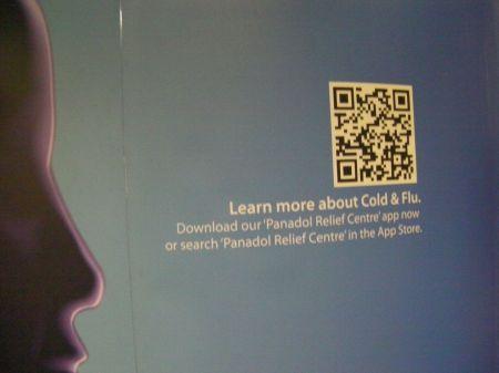 qr code in a cold medicine ad