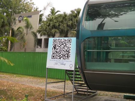 qr code at the Singapore Flyer site