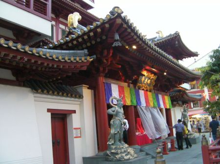 Buddhist temple entrance