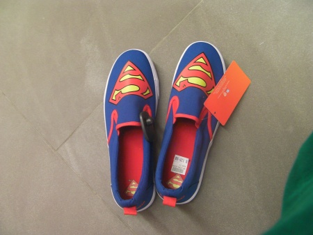 men's shoes with Superman on them