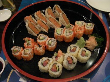 variety of maki sushi rolls