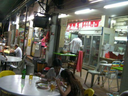 open air, alleyway restaurant