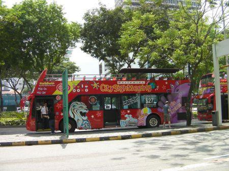 tourist site seeing bus