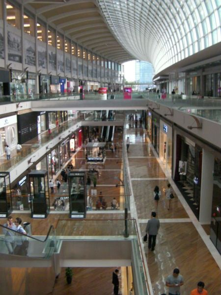 three story shopping mall