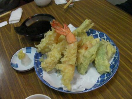 tempura shrimp and vegetables