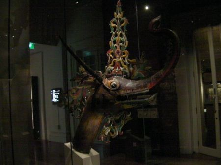 carved dragon head
