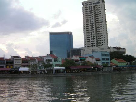 colorful old buildings on the shore of the river