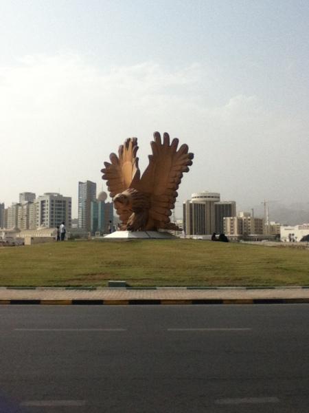 statue of a bird of prey