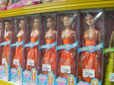 knock off barbie dolls with one breast exposed