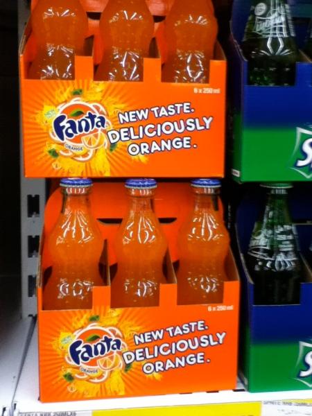 fanta soda six packs stating new slogan