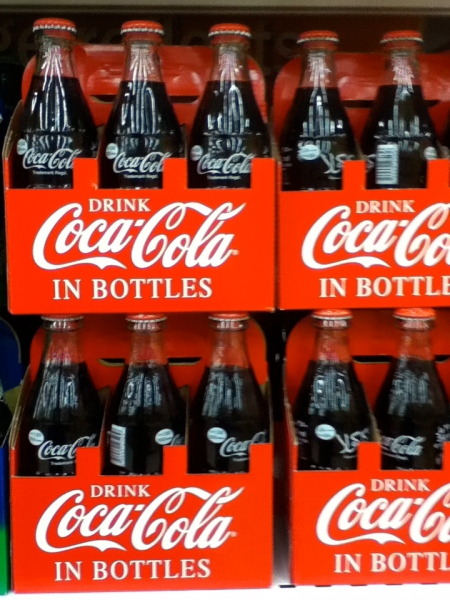 coca cola in traditional bottles
