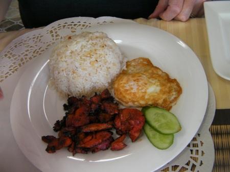 egg, rice, chicken