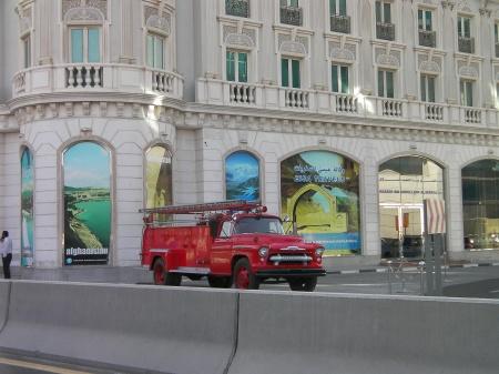 1950's red firetruck