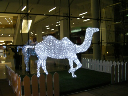 light decoration shaped like a camel 50% full size