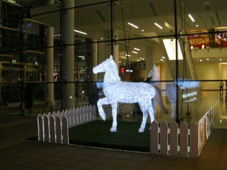 light decoration horse