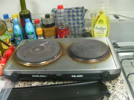 two burner counter top stove