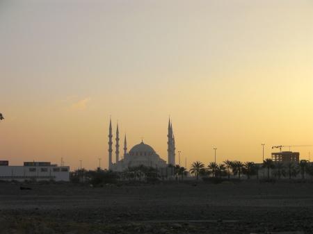 mosque at sunrise