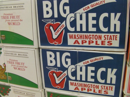 box of Washington State apples