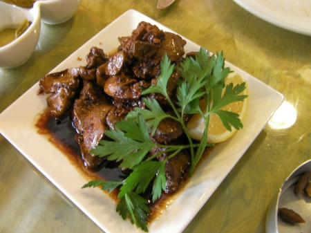 plate of chicken livers