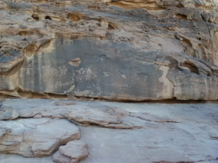 ancient rock art depicting camels