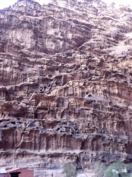 eroded limestone formation