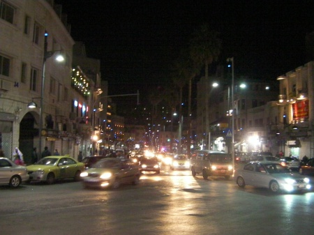 downtown Amman at night