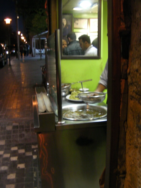 falafel being cooked
