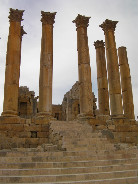 steps and massive Corinthian pillars