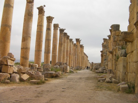 Roman street lined with columns