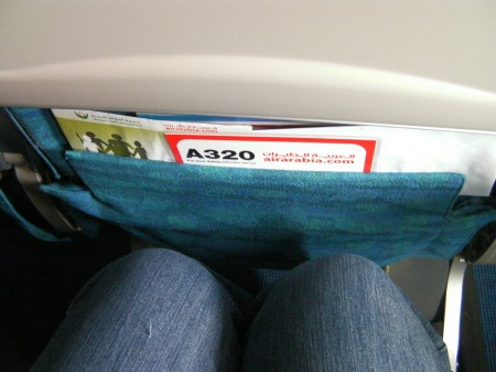 space between my knees and the seat in front of me