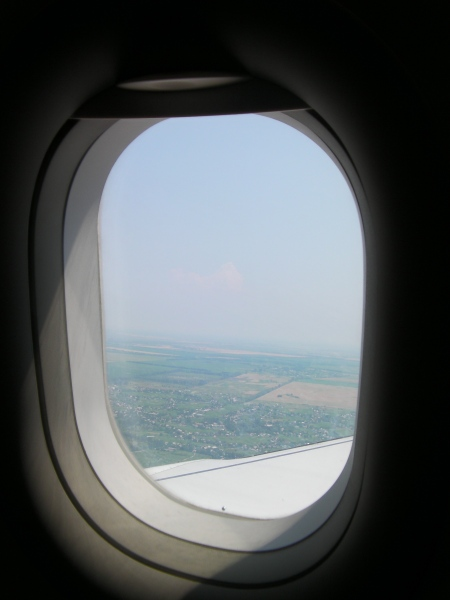 view out the airplane window