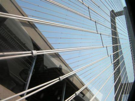 suspension bridge wires