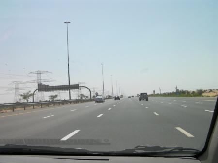 six lane freeway with few cars