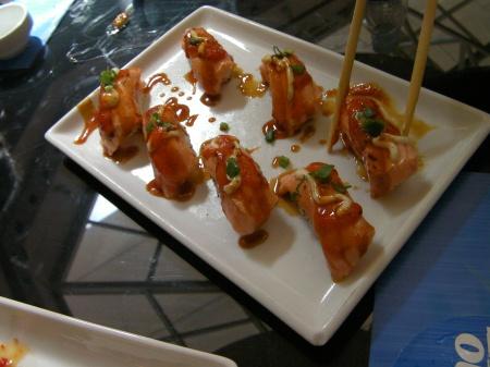 nigiri style seared salmon