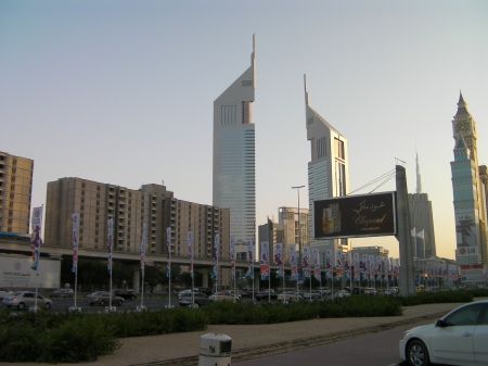 Dubai skyline including the Emirates Towers