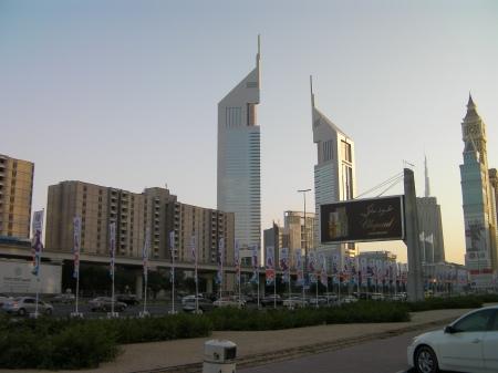 Dubai skyline including the Emirates Towers
