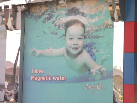 "picture of baby swimming ""I love magnetic water...try it."""