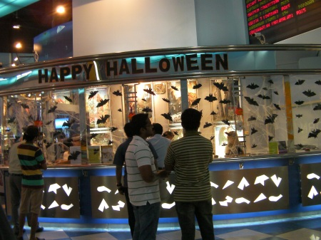 Halloween decorations at the cinema