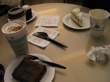 mocha, brownie, hot chocolate,  cheese cake, espresso