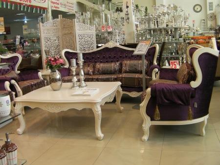 deep purple living room furniture